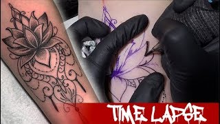 Water Flower - Tattoo Time Lapse