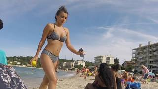This Is The Public Beach Of Antibes, France - Plage De La Salis