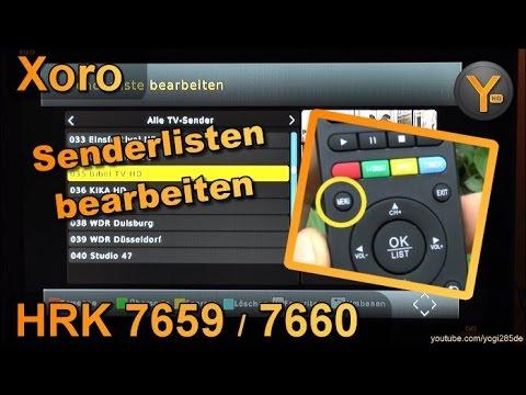 Xoro HRK 7659 / 7660: Senderlisten bearbeiten / Sender sortieren, löschen & umbenennen
