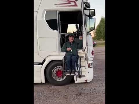 Entering a Semi Truck in a Wheelchair