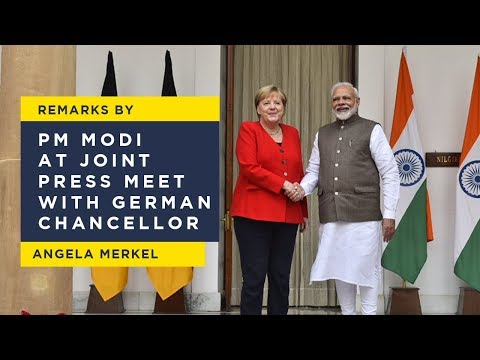 Remarks by PM Modi at joint press meet with German Chancellor Angela Merkel