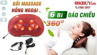 Video gối massage hồng ngoại điều trị đau mỏi cổ 6 bi Puli PL-817B