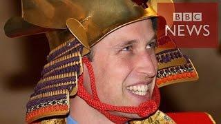 BBCかつらの代わりに兜を来日のウィリアム英王子
