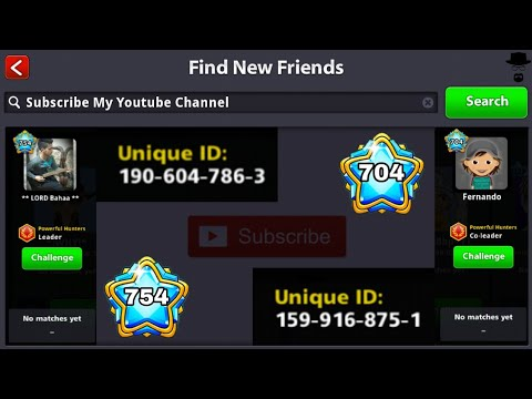 How To Add ( Unique ID ) Legend Player In 8 Ball Pool | B2 Shahbaz.
