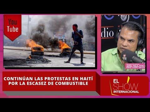 Continúan las protestas en Haití por la escasez de combustible