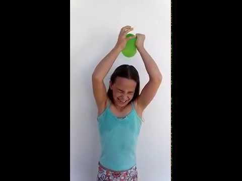 Desafio do balão com água