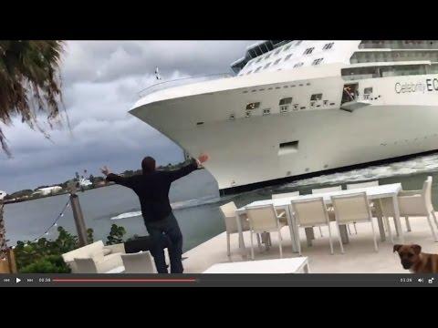 Crucero Casi se Impacta con Casa de Playa