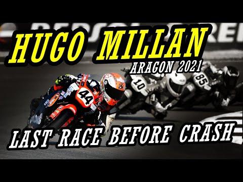 HUGO MILLAN GRACIA LAST RACE BEFORE CRASH AT ARAGON