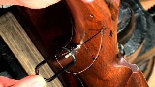 Gunsmithing  How To Checker A Gun Stock  Winchester Model 67 Rifle