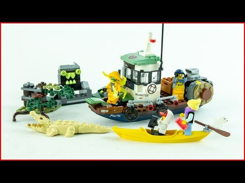 LEGO HIDDEN SIDE 70419 Wrecked Shrimp Boat Construction Toy - UNBOXING