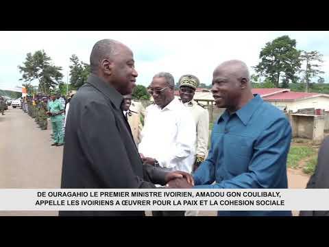 DE OURAGAHIO LE PREMIER MINISTRE IVOIRIEN, AMADOU GON COULIBALY, APPELLE LES IVOIRIENS A ŒUVRER POUR LA PAIX ET LA COHÉSION SOCIALE.