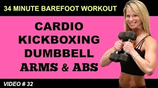 Cardio Kickboxing Workout | ARMS ABS WORKOUT | Barefoot Workout by Shelly Dose Fitness