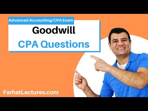 CPA Exam practice Questions. Goodwill - YouTube