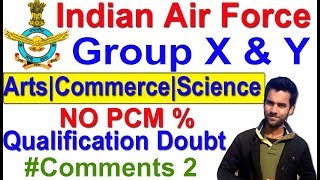 Join Air Force Group X & Y Bharti 2018 Qualification,Age,Exam Comments