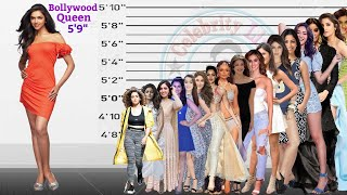 Bollywood Queen Deepika Padukone's  Height Comparison With Other 25 Bollywood Actress Height.