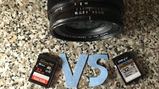 SD SHOWDOWN Sandisk Extreme PRO Vs PNY Elite Performance