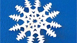 DIY. Как сделать снежинку из бумаги. SNOWFLAKE. Copo de nieve