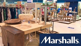 MARSHALLS HOME FURNITURE CHAIRS TABLES DECOR SHOP WITH ME SHOPPING STORE WALK THROUGH