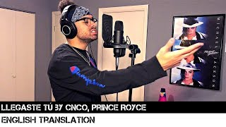 Llegaste Tú By CNCO, Prince Royce | English Translation