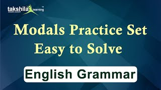 Modals Excercise 10 questions - modals practice set for competitive exams