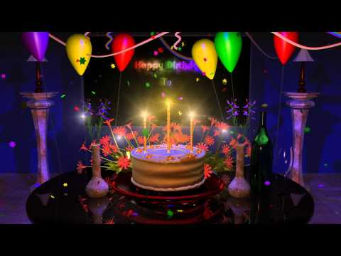 Happy Birthday Cake Presentation Animation Video Mp3