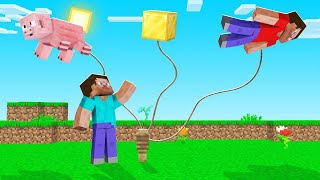 Minecraft BUT EVERYTHING FLOATS UP! (really high)