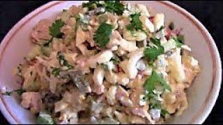 Салат из консервированных кальмаров ./Кальмары рецепты ./Вкусный салат с кальмарами .