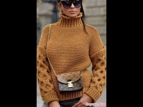 Стильный Свитер Спицами - 2019 / Stylish Knitting Sweater / Stylischer Strickpullover