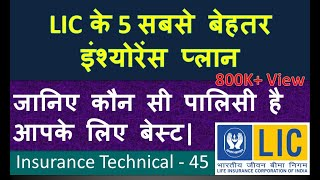 Top 5 LIC Life insurance Policies: Best LIC Policy