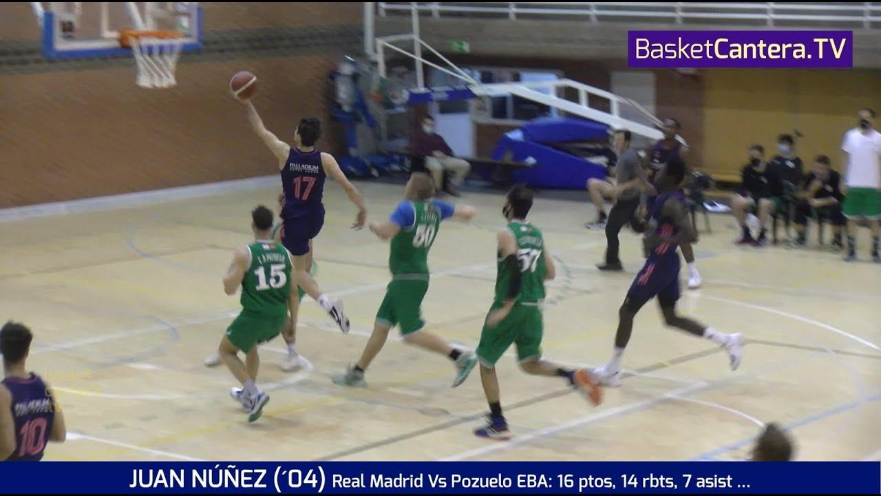 JUAN NÚÑEZ (´04)  16 ptos, 14 rbts, 7 asist. (Real Madrid Vs Pozuelo 18/2/21) #BasketCantera.TV