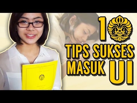 Video 10 TIPS SUKSES MASUK UI