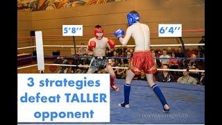 """3 Strategies to defeat taller opponent (5'8"""" vs 6'4"""") (Real Time Fight/Sparring Footage)"""
