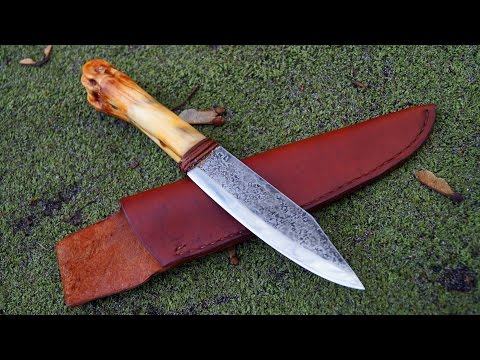 ML Knives Custom Bone Handle Camp Knife Bowie Native Frontier Jagdmesser handgemacht