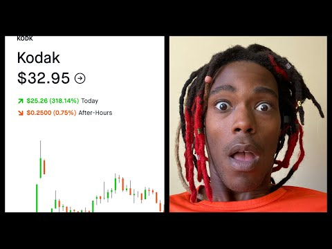 How much did I make off Kodak stock today. With Robinhood. Day trade!