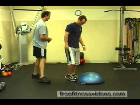 Plyo Push-up Shuffle (on knees and Bosu)