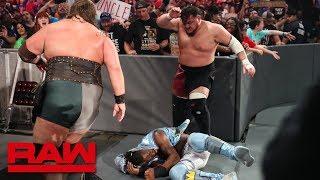 The New Day vs. Samoa Joe & The Viking Raiders: Raw, July 1, 2019