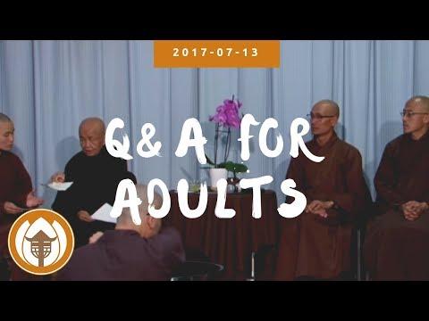 2017 07 13 Q&A Adults Br Pháp Dung, Pháp Liệu, Sr Chân Không, Thuần Khánh