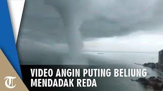Video Detik-detik Angin Puting Beliung Mendadak Reda saat Memasuki Tepi Pantai