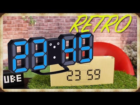 🔴MEGA RETRO LED Digital-Wecker / Uhr