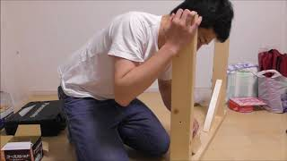 2x4材で馬を作る。③ making My Own Work Stage.馬の組み立てがやっと形になってきた。動画で見るよりやってみると難しい。
