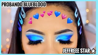 PROBANDO MAQUILLAJE POPULAR| BLUE BLOOD Palette Jeffree Star♥BeautybyNena