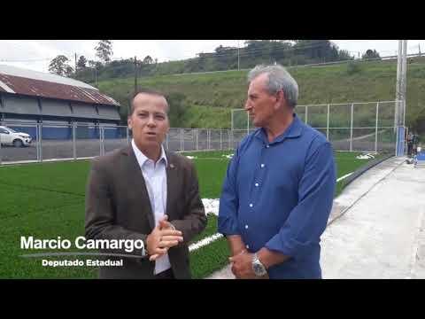 Deputado Estadual Marcio Camargo e a Quadra de Fora do Csu Grama Sintética