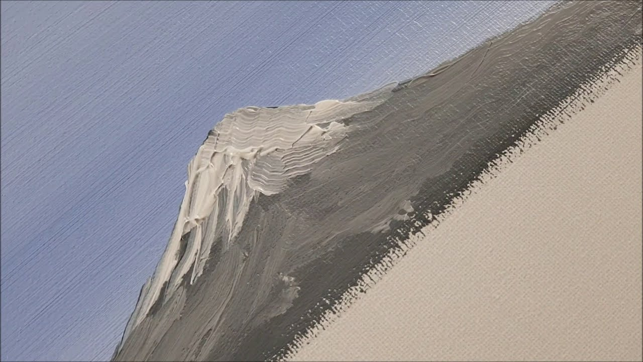 acrylic painting mount fuji tutorial by king marty