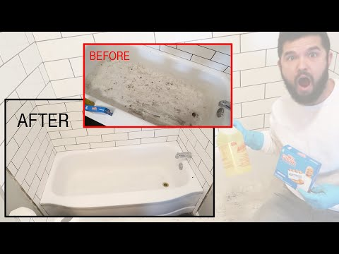 DIY Bathtub Cleaning | How to Clean Old Porcelain Tub | Fast & Cheap