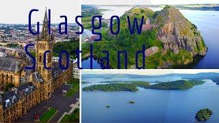 Glasgow Scotland Drone Footage 4k