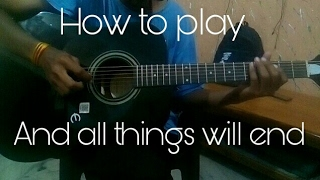 How To Play And All things will end intro by avenged sevenfold
