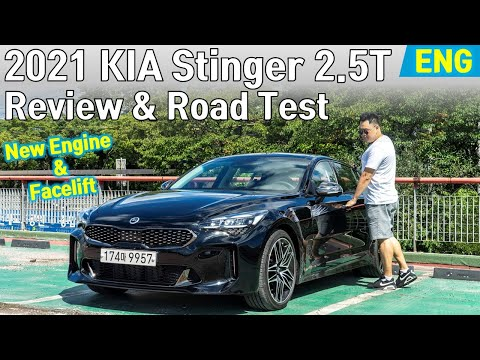 2021 KIA Stinger 2.5T AWD Facelift - Review and Road Test (New 2.5 Turbo Engine 1st Drive)