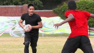 Rugby Running Technique | Drills With the Ball | Coca-Cola GB