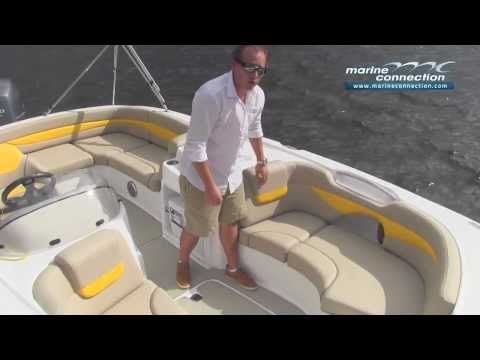 Brand New 2014 Hurricane SunDeck Sport SS 203 OB boat review by Marine Connection Boat Sales
