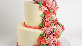 SUPER EASY Cascading Floral CAKE TUTORIAL- Rosies Dessert Spot